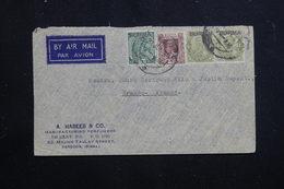 BIRMANIE - Enveloppe Commerciale De Rangoon Pour La France En 1937, Affranchissement Plaisant - L 60806 - Burma (...-1947)