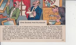 HUMOUR  -  UNE SAISIE PAR HUISSIER  - - Humour