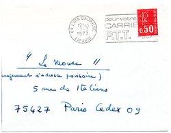 RHONE - Dépt N° 69 = LYON DAUPHINE (3e ARR)  1973 =  FLAMME  SECAP ' CARRIERES PTT / Pour Votre Avenir ' - Postmark Collection (Covers)