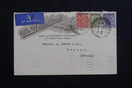 BIRMANIE - Enveloppe Commerciale De Rangoon Pour La France En 1938, Affranchissement Plaisant Tricolore - L 60808 - Burma (...-1947)