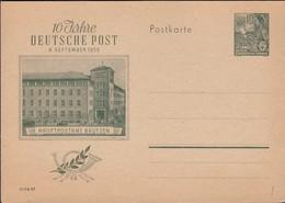 Germany 1955 - 10 Pf. DDR Stationery Card. 10 Jahre Deutsche Post Ganzsache Postkarte MiNr. P 66. - Cartes Postales - Neuves