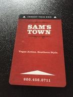 Hotelkarte Room Key Keycard Clef De Hotel Tarjeta Hotel  SAM`S TOWN  SHREVEPORT - Télécartes