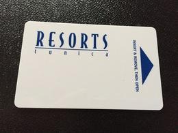 Hotelkarte Room Key Keycard Clef De Hotel Tarjeta Hotel  RESORTS TUNICA - Télécartes