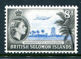 British Solomon Islands 1956-63 QEII Pictorials - Wmk. Script CA - 8d Henderson Field MNH (SG 90) - Isole Salomone (...-1978)