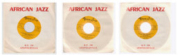 Lot 3 Vinyles 45t African Jazz   Léopoldville - Jazz