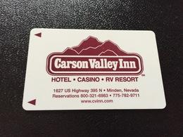 Hotelkarte Room Key Keycard Clef De Hotel Tarjeta Hotel  CARSON VALLEY INN MINDEN - Télécartes