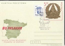 """POLONIA - ANNULLO SPECIALE  OSTRIEWIEC SW1 14.05.1988 SU INTERO POLONIA """"NO PASARAN"""" (MICHEL P972) - 1944-.... Republik"""