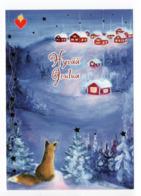 Postal Stationery HEART ASSOCIATION - FINLAND - Postage Paid  - FOX - STAMP BIRDS / BULLFINCHES - Finland