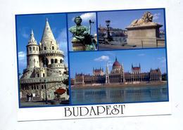 Carte Budapest Parlement Cachet Sur Declaration - Hungría
