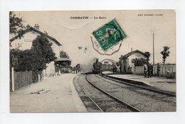- CPA CORMATIN (71) - La Gare 1910 (avec Locomotive à Vapeur) - Edition TRUCHOT - - Frankrijk