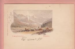 OUDE POSTKAART ZWITSERLAND - SCHWEIZ -      ROSEGGLETSCHER - ENGADIN  1899 - GR Grisons