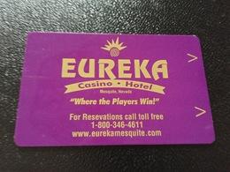 Hotelkarte Room Key Keycard Clef De Hotel Tarjeta Hotel  EUREKA   MESQUITE - Télécartes