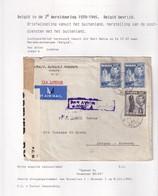 DDX 001 - INCOMING MAIL APRES GUERRE - Enveloppe TP MALTA Air Mail 1945 Vers Merxem Antwerp - Censure DD/45 - WW II