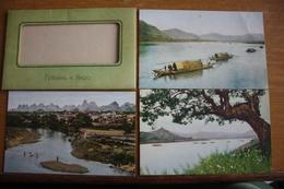 Chinese Views Series, Guilin And Yangshuo  Landscapes - 6 PCs SET - CHINA Postcard   - Old PC 1950s - Cina