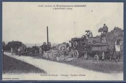 Matériel De Battage, Pressage,système Albaret Reproduction Carte Ancienne Picardie Travail à La Campagne - Tractors