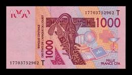 West African St. Togo 1000 Francs CFA 2017 Pick 815Tq SC UNC - Togo