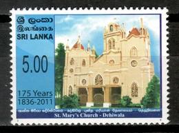 Sri Lanka 2011 Ceylán / Architecture St. Mary's Church MNH Iglesia De Santa María Arquitectura / Cu16515  31-1 - Sri Lanka (Ceylon) (1948-...)