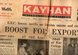 Journal En Anglais Kayhan Edition Internationale Tehran Téhéran Iran 23/05/1963 - Shah Lollobrigide Bhutto Sidecar Pub.. - News/ Current Affairs