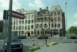80s DAF 44 VARIOMATIC DATSUN CITROEN GS AMSTERDAM HOLLAND NETHERLANDS AMATEUR 35mm ORIGINAL NEGATIVE Not PHOTO No FOTO - Fotografia