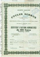 88-CYCLES SERRUS. SA DES ... EPINAL - Actions & Titres
