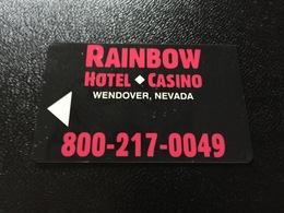 Hotelkarte Room Key Keycard Clef De Hotel Tarjeta Hotel   RAINBOW WENDOVER - Télécartes