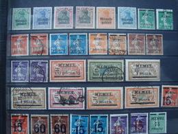 LOT DE MEMEL - Briefmarken