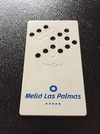 Hotelkarte Room Key Keycard Clef De Hotel Tarjeta Hotel   MELIA LAS PALMAS  CASINO GRAN CANARIA - Sin Clasificación