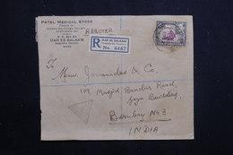 KENYA / OUGANDA / TANGANYIKA - Enveloppe En Recommandé De Dar El Salaam Pour Bombay En 1942 Avec Contrôle  - L 60830 - Kenya, Uganda & Tanganyika