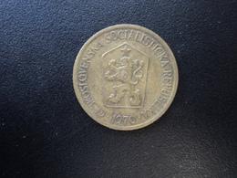 TCHÉCOSLOVAQUIE : 1 KORUNA   1970    KM 50      TTB - Tschechoslowakei