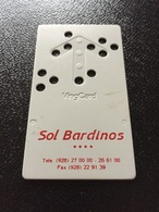 Hotelkarte Room Key Keycard Clef De Hotel Tarjeta Hotel   SOL BARDINOS  CASINO GRAN CANARIA - Sin Clasificación