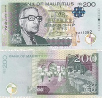 Mauritius - 200 Rupees 2013 UNC P. 61 Lemberg-Zp - Maurice