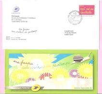 """2006. PAP De Service : INVITATION Premier Jour. """" Une Fresque > Couleurs > Printemps """". (Y&Tn°3760).Avec Carte.Circulé. - Ganzsachen"""