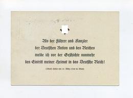 1938 3.Reich Österreichanschluss Propagandakarte Mit Hitlerzitat Vom 15.3. Wien Mit EF Mi 662, 663 SST Braunau - Covers & Documents