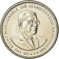 Monnaie, Mauritius, Elizabeth II, 1/2 Rupee, 1987, TTB+, Nickel Plated Steel - Mauritius