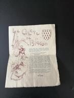 ACADEMIE D'EMULATION 1913-1914 ECOLE ST CHARLES - BRETAGNE - SAINT BRIEUC  - HIPPOLYTE BISSON - PLOUGUERNEVEL - Diploma & School Reports