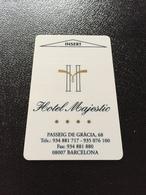 Hotelkarte Room Key Keycard Clef De Hotel Tarjeta Hotel  MAJESTIC  BARBELONA GRAN CASINO - Sin Clasificación