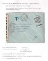 DDX 016 - INCOMING MAIL APRES GUERRE - Enveloppe TP Maroc CASABLANCA 1945 Vers MERXEM Anvers - Censure Controlé LLY - Cartas