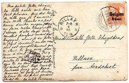 OC13 Sur Carte-photo Expédiée De WAREMME Vers Dépôt-relais De RILLAER - Censure Lüttich - Guerre 14-18