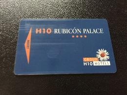 Hotelkarte Room Key Keycard Clef De Hotel Tarjeta Hotel  H 10 RUBICON PALACE  CASINO DE LANZAROTE - Sin Clasificación