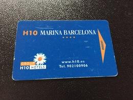 Hotelkarte Room Key Keycard Clef De Hotel Tarjeta Hotel    H 10 MARINA BARCELONA CASINO - Sin Clasificación