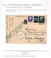 DDX 018 - INCOMING MAIL APRES GUERRE - Entier Postal Italie FIRENZE 1945 Vers SERAING - Censure Alliée Civil Mails - Guerra '40-'45