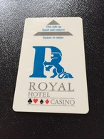 Hotelkarte Room Key Keycard Clef De Hotel Tarjeta Hotel   ROYAL MANDELIEU CASINO - Sin Clasificación