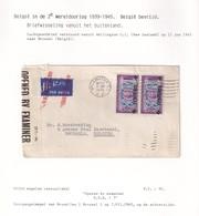 DDX 019 - INCOMING MAIL APRES GUERRE - Enveloppe TP New Zealand WELLINGTON 1945 Vers Bruxelles - Censure D.D.A./ 7 - WW II
