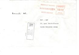 Vignette MOG Guichet HAUTE GARONNE 1983 CASTANET TOLOSAN LETTRE RECOMMANDEE EINSCHREIBEN REGISTERED COVER AR - 1981-84 LS & LSA Prototypes