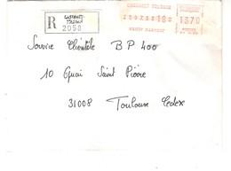 Vignette MOG Guichet HAUTE GARONNE 1983 CASTANET TOLOSAN LETTRE RECOMMANDEE EINSCHREIBEN REGISTERED COVER - 1981-84 LS & LSA Prototypes