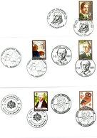 2025/19 (série Complète) Sur Lettres: 5 Cachets DIFFERENTS Prévente Kortrijk, Waterloo, Gembloux, Ruisbroek, Tessenderlo - Matasellos De Cortesía