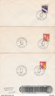 CL112  3  Cachets Comm PF Temporaires Expometz  57 Metz 1964 1965 1966  / Lettres - Marcophilie (Lettres)