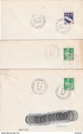 CL110 5 Cachets Comm PF Temporaires Foire Commerciale LILLE /lettre - Marcophilie (Lettres)