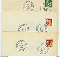 CL168 3 Cachets  PF Obl Temporaires C.IG.R.E. Paris 1962,64,66 - Marcophilie (Lettres)
