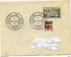 CL315 Cachet Comm GF/ YvT 1293 Semaine Du Cuir 110 09 961 Paris - Marcophilie (Lettres)